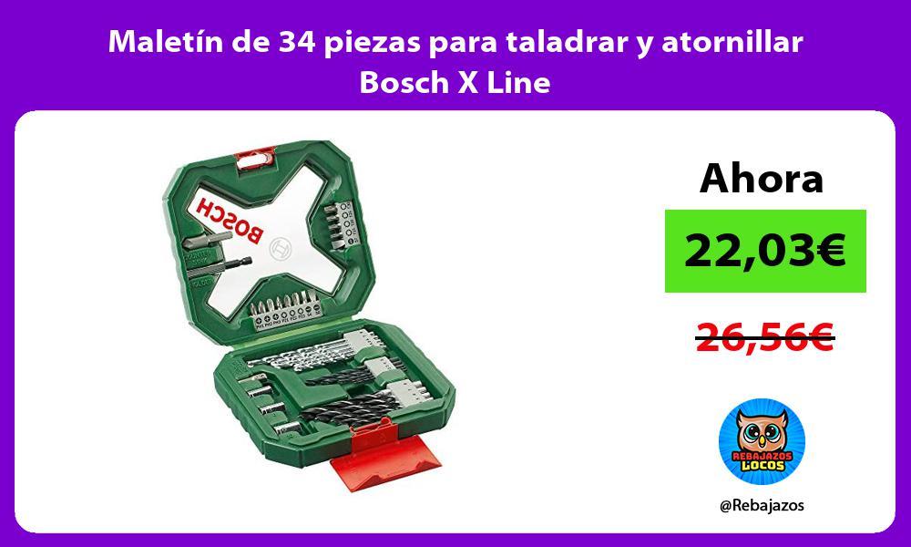 Maletin de 34 piezas para taladrar y atornillar Bosch X Line