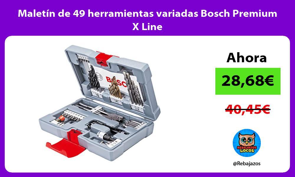 Maletin de 49 herramientas variadas Bosch Premium X Line