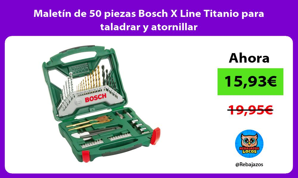 Maletin de 50 piezas Bosch X Line Titanio para taladrar y atornillar
