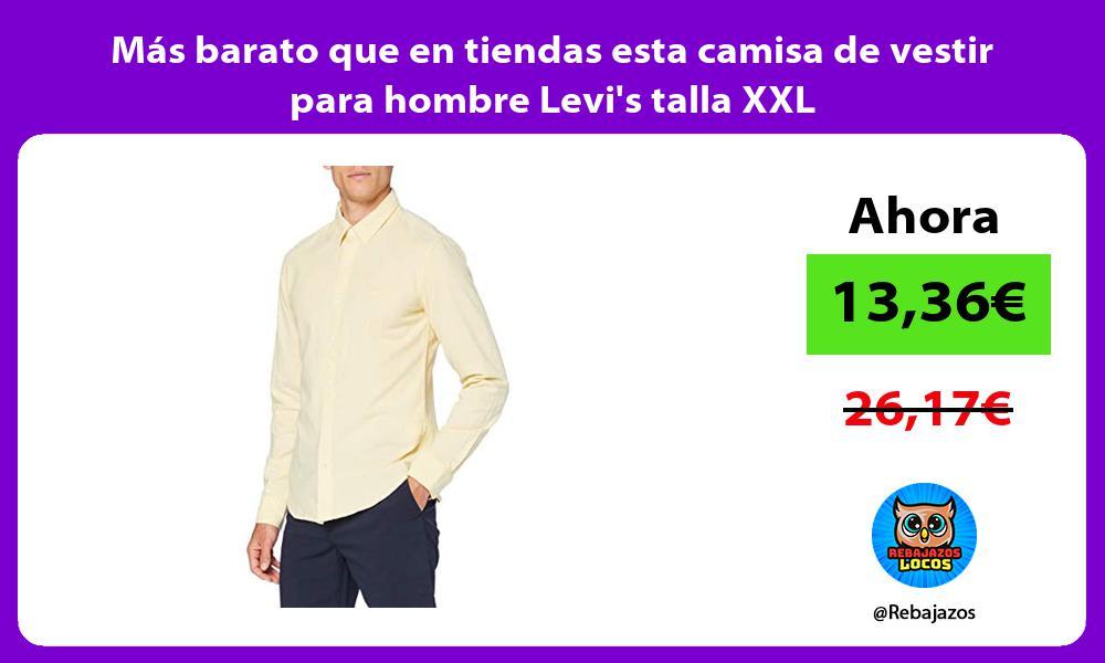 Mas barato que en tiendas esta camisa de vestir para hombre Levis talla XXL