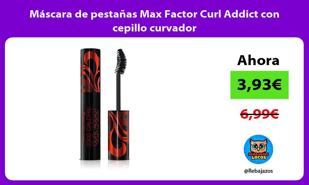 Mascara de pestanas Max Factor Curl Addict con cepillo curvador