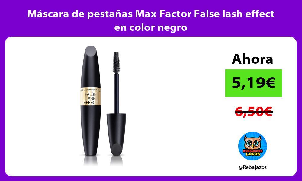 Mascara de pestanas Max Factor False lash effect en color negro