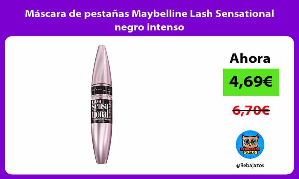 Mascara de pestanas Maybelline Lash Sensational negro intenso