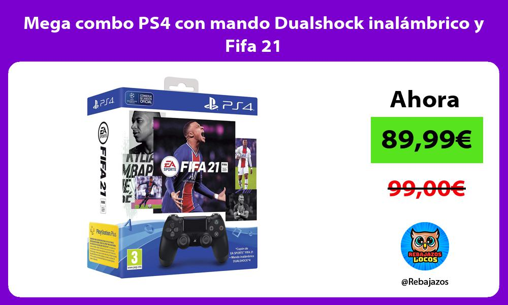 Mega combo PS4 con mando Dualshock inalambrico y Fifa 21