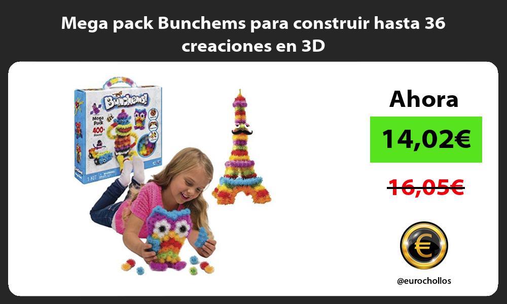 Mega pack Bunchems para construir hasta 36 creaciones en 3D
