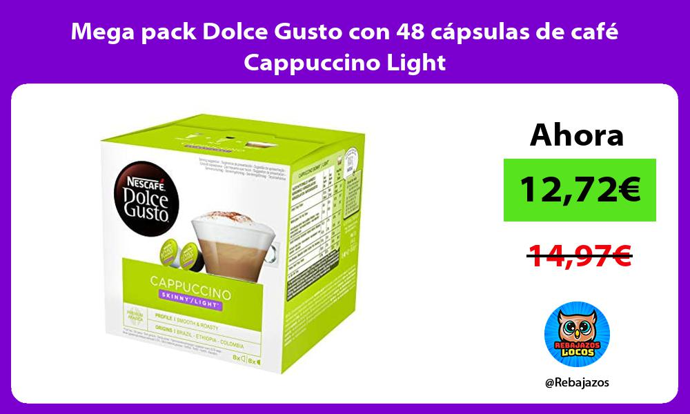 Mega pack Dolce Gusto con 48 capsulas de cafe Cappuccino Light