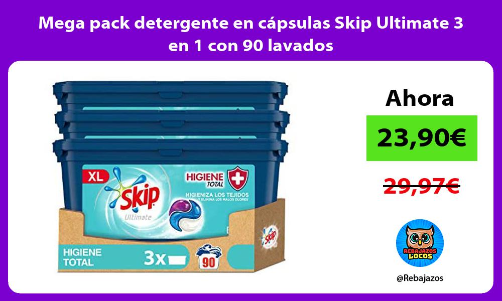 Mega pack detergente en capsulas Skip Ultimate 3 en 1 con 90 lavados