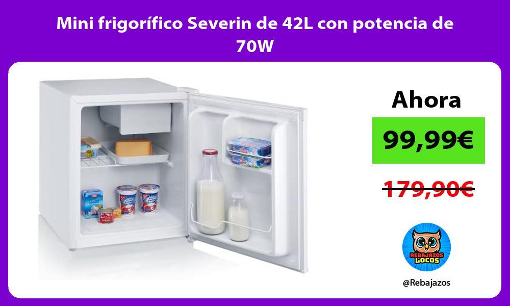 Mini frigorifico Severin de 42L con potencia de 70W