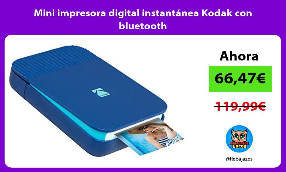 Mini impresora digital instantanea Kodak con bluetooth