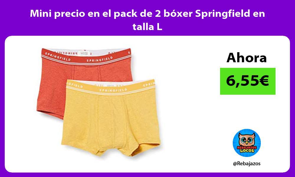 Mini precio en el pack de 2 boxer Springfield en talla L