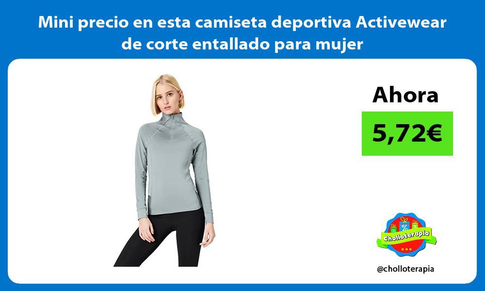 Mini precio en esta camiseta deportiva Activewear de corte entallado para mujer