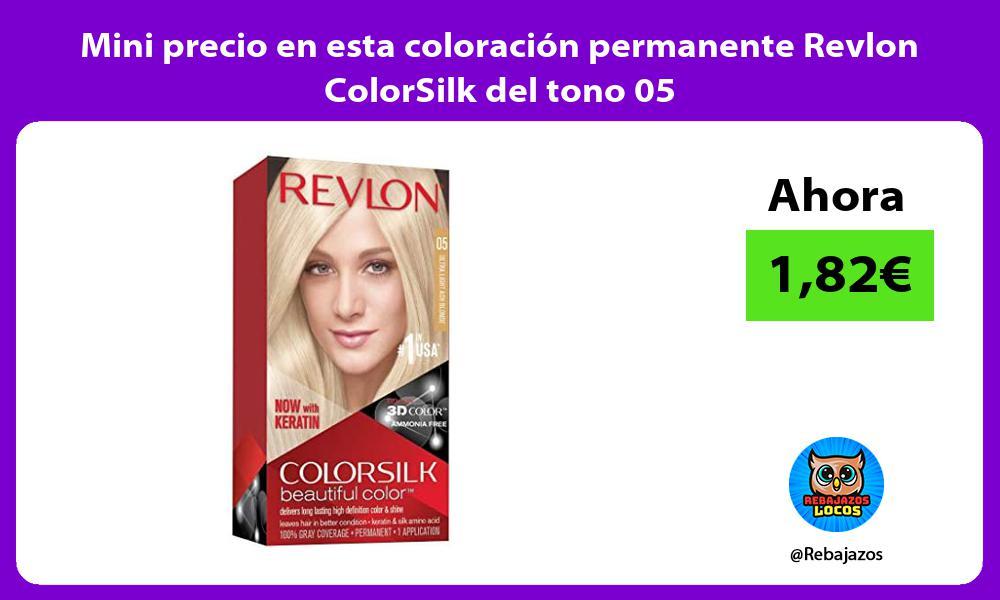 Mini precio en esta coloracion permanente Revlon ColorSilk del tono 05