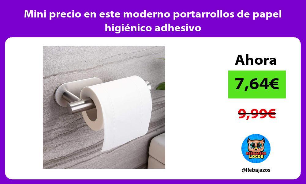 Mini precio en este moderno portarrollos de papel higienico adhesivo