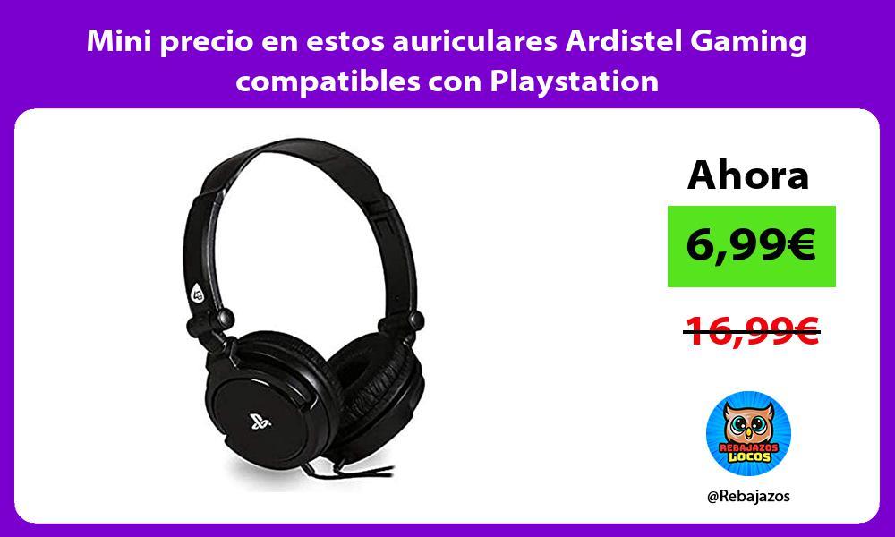 Mini precio en estos auriculares Ardistel Gaming compatibles con Playstation
