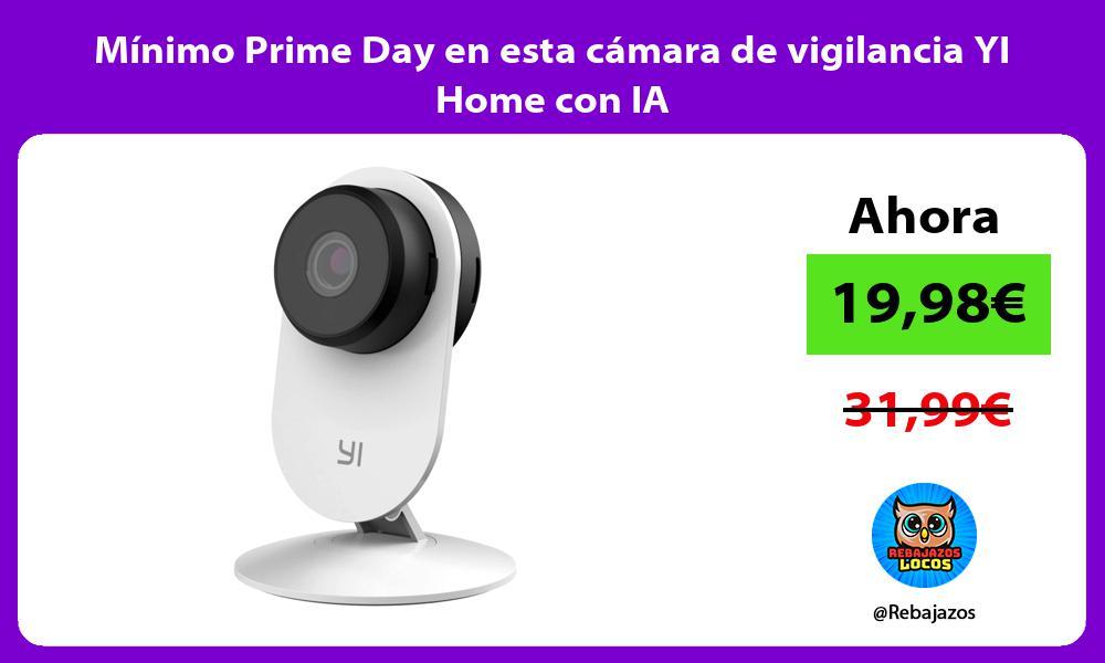 Minimo Prime Day en esta camara de vigilancia YI Home con IA