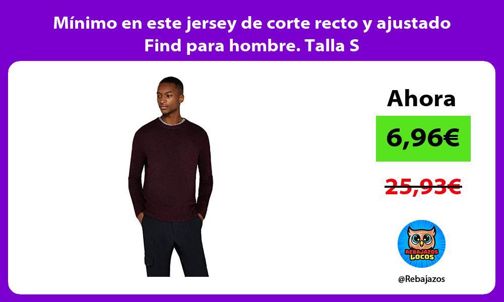 Minimo en este jersey de corte recto y ajustado Find para hombre Talla S