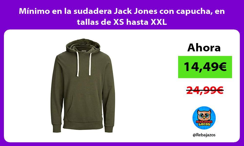 Minimo en la sudadera Jack Jones con capucha en tallas de XS hasta XXL