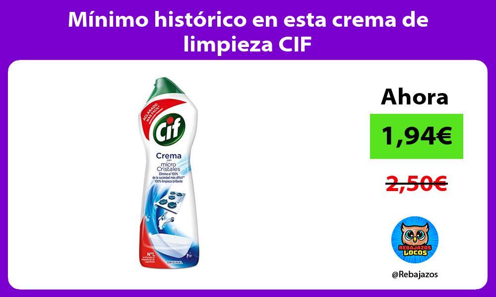 Minimo historico en esta crema de limpieza CIF