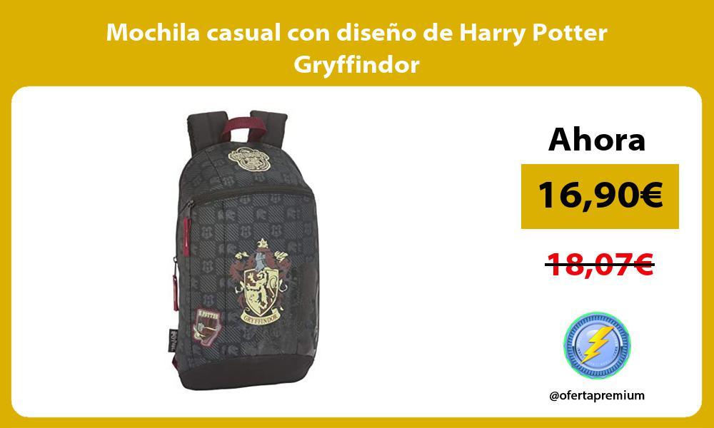 Mochila casual con diseno de Harry Potter Gryffindor