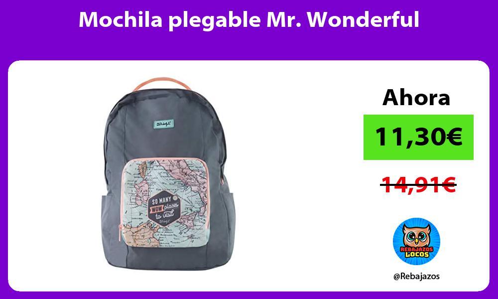 Mochila plegable Mr Wonderful