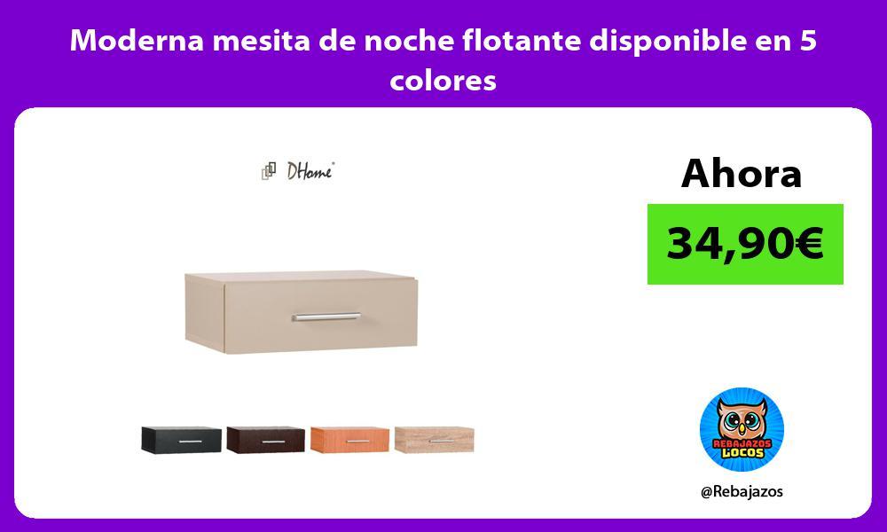 Moderna mesita de noche flotante disponible en 5 colores