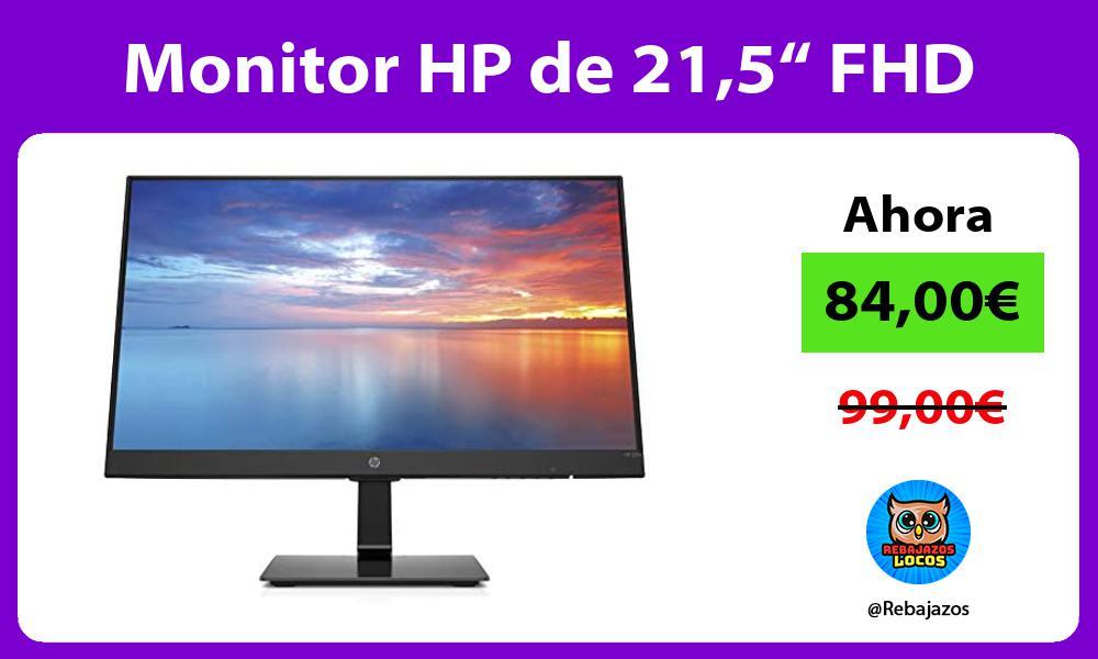 Monitor HP de 215 FHD