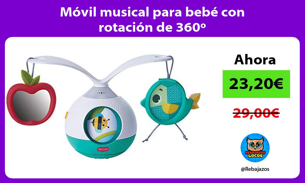 Movil musical para bebe con rotacion de 360o