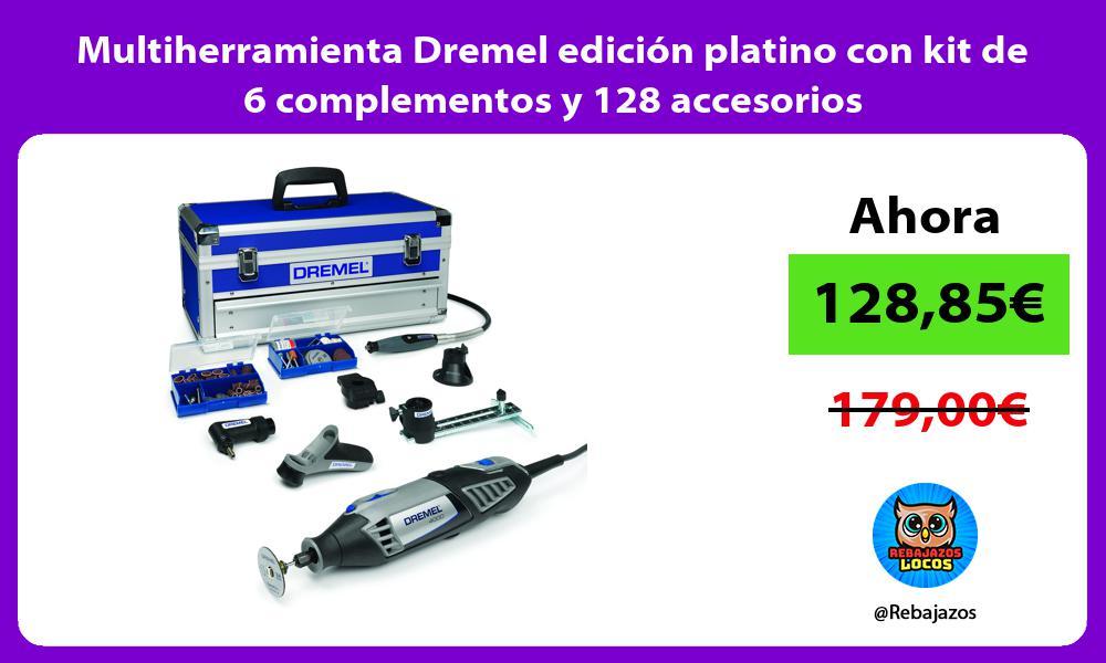 Multiherramienta Dremel edicion platino con kit de 6 complementos y 128 accesorios