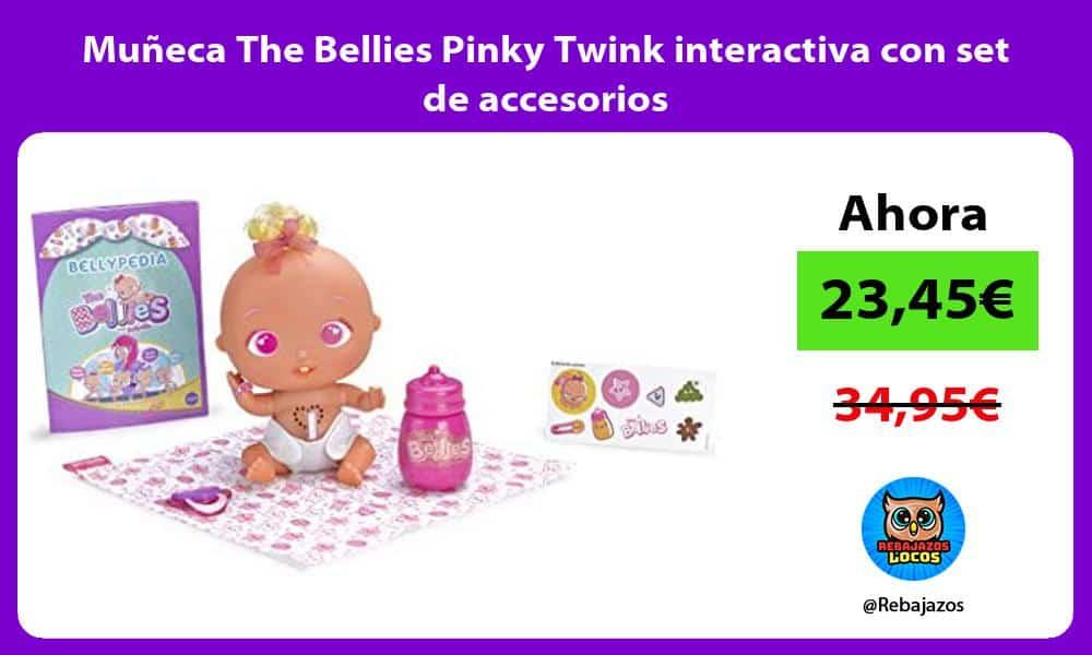 Muneca The Bellies Pinky Twink interactiva con set de accesorios