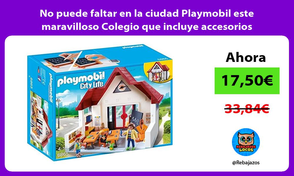 No puede faltar en la ciudad Playmobil este maravilloso Colegio que incluye accesorios