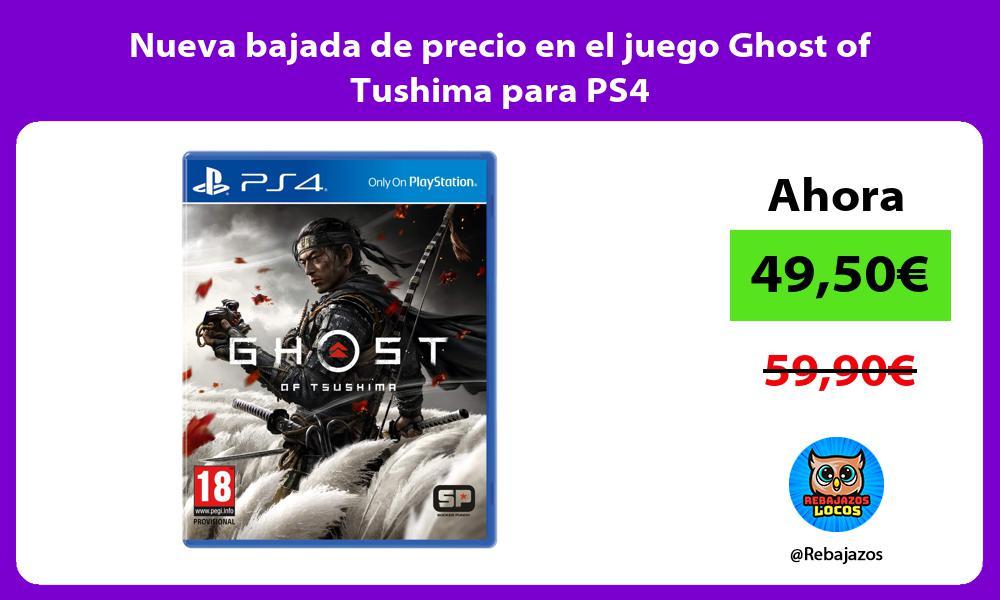 Nueva bajada de precio en el juego Ghost of Tushima para PS4
