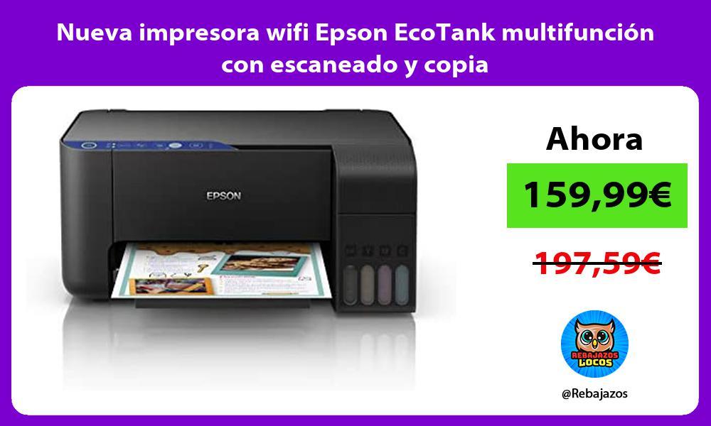 Nueva impresora wifi Epson EcoTank multifuncion con escaneado y copia