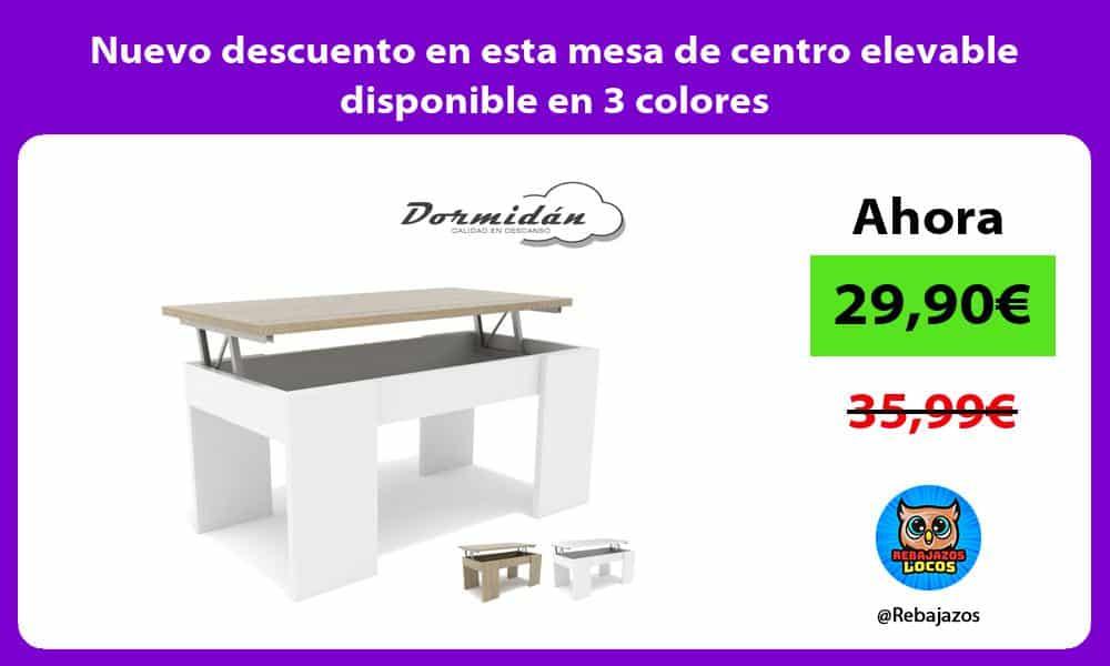 Nuevo descuento en esta mesa de centro elevable disponible en 3 colores