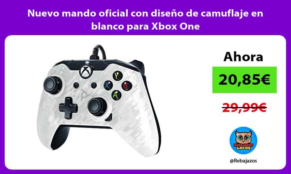 Nuevo mando oficial con diseno de camuflaje en blanco para Xbox One