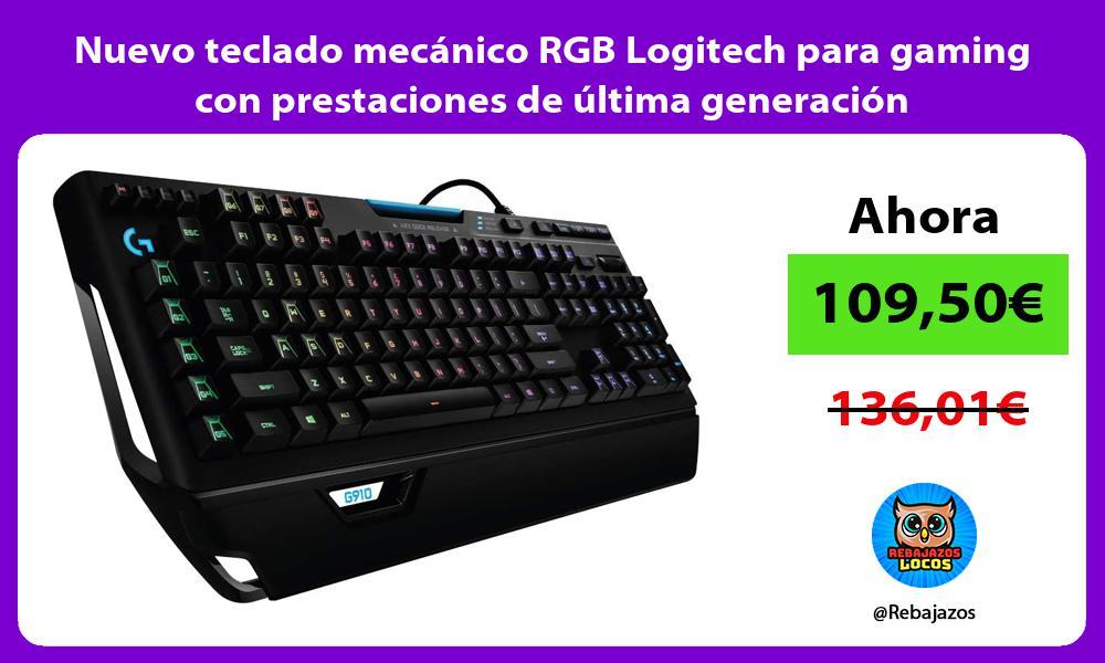 Nuevo teclado mecanico RGB Logitech para gaming con prestaciones de ultima generacion