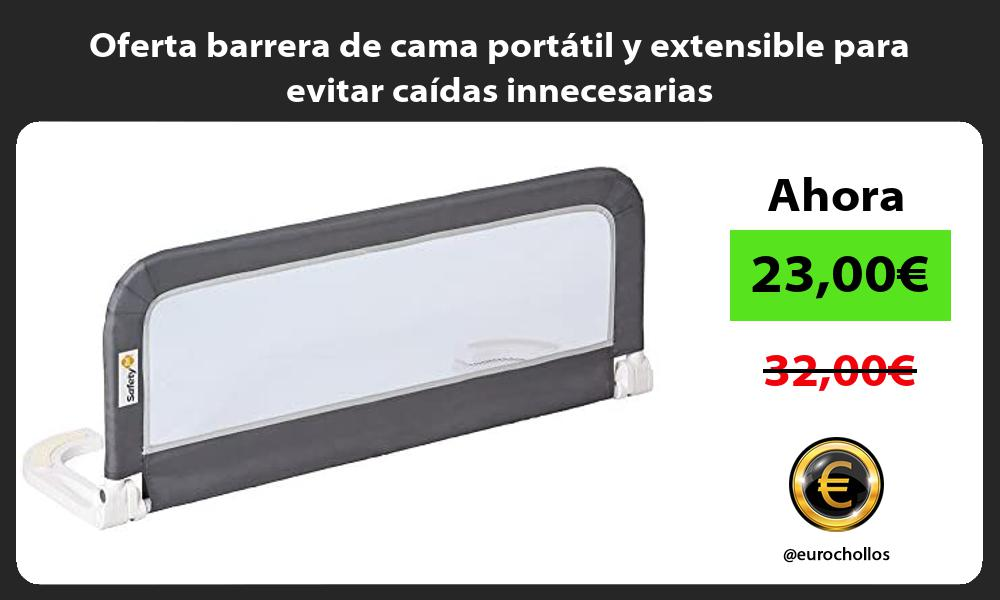 Oferta barrera de cama portatil y extensible para evitar caidas innecesarias