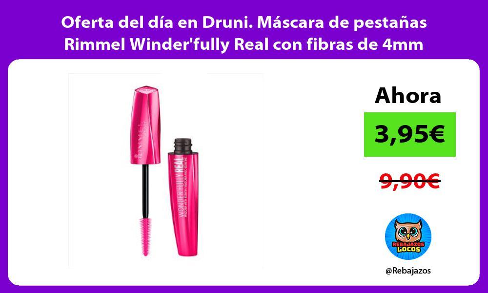 Oferta del dia en Druni Mascara de pestanas Rimmel Winderfully Real con fibras de 4mm