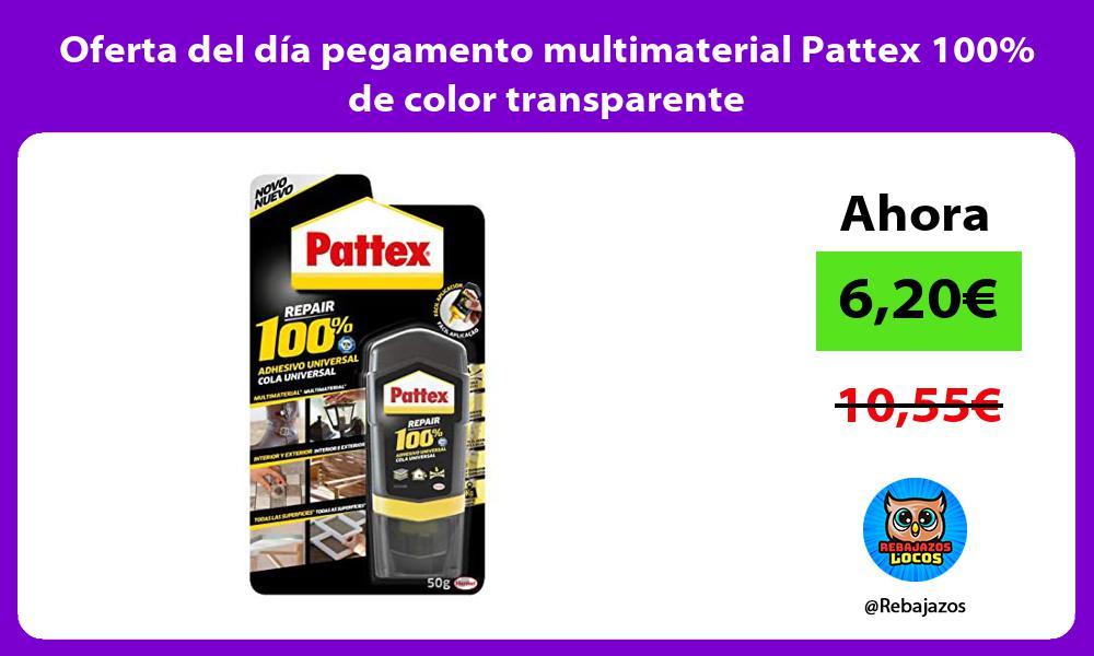 Oferta del dia pegamento multimaterial Pattex 100 de color transparente