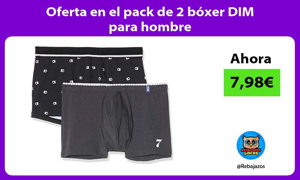 Oferta en el pack de 2 boxer DIM para hombre