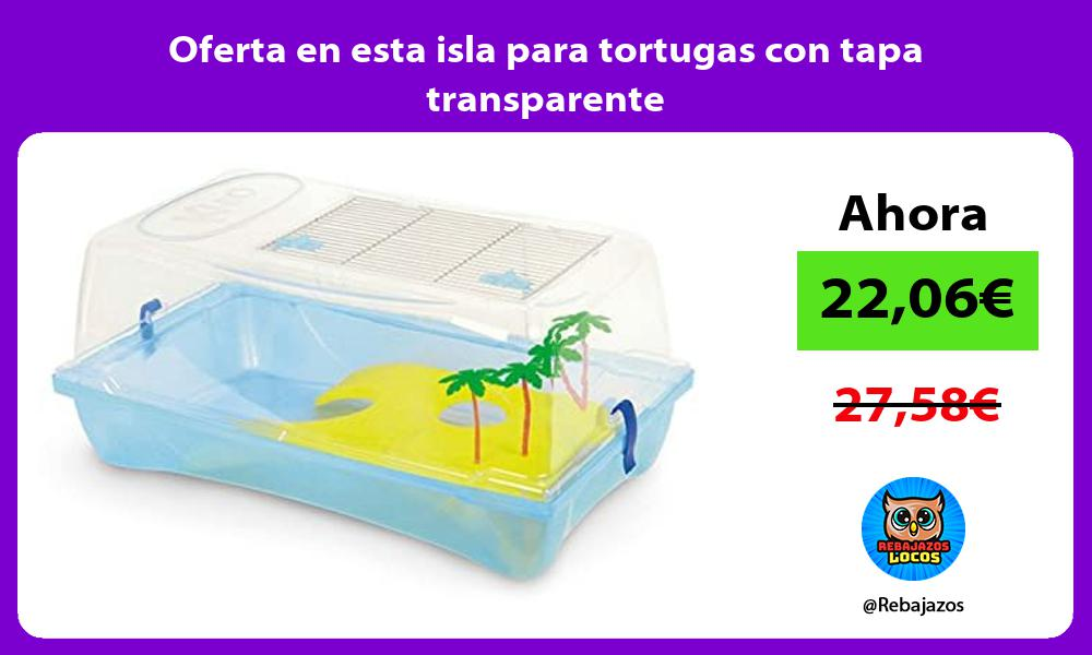 Oferta en esta isla para tortugas con tapa transparente