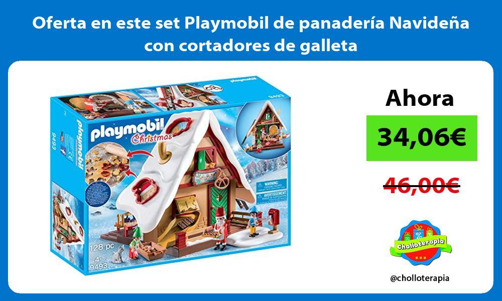 Oferta en este set Playmobil de panaderia Navidena con cortadores de galleta