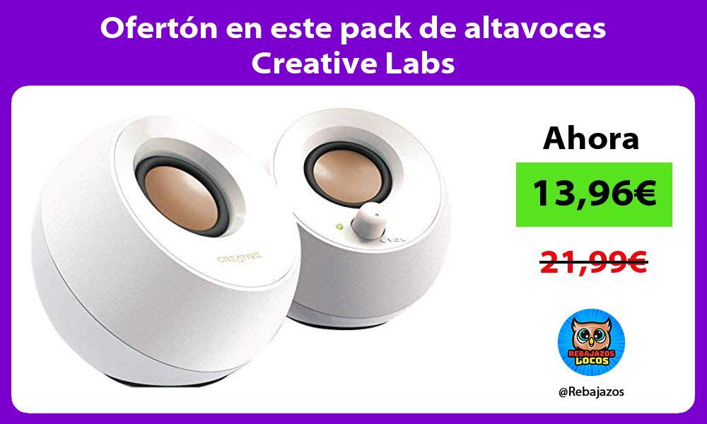 Oferton en este pack de altavoces Creative Labs
