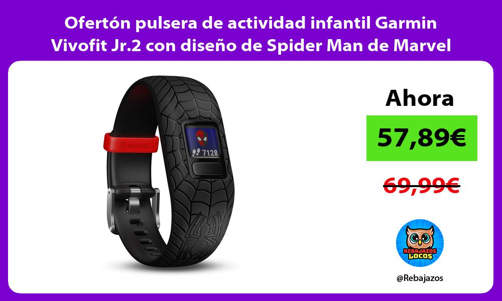 Oferton pulsera de actividad infantil Garmin Vivofit Jr 2 con diseno de Spider Man de Marvel