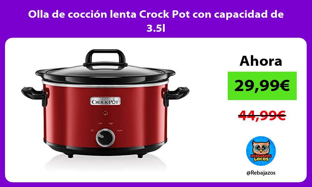 Olla de coccion lenta Crock Pot con capacidad de 3 5l