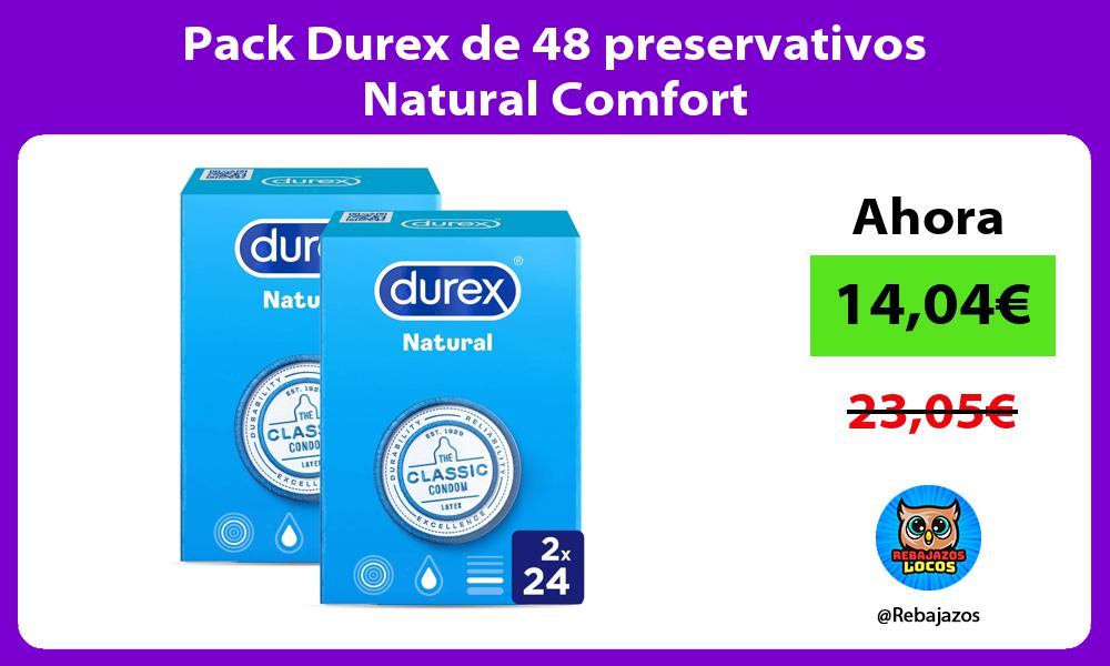Pack Durex de 48 preservativos Natural Comfort