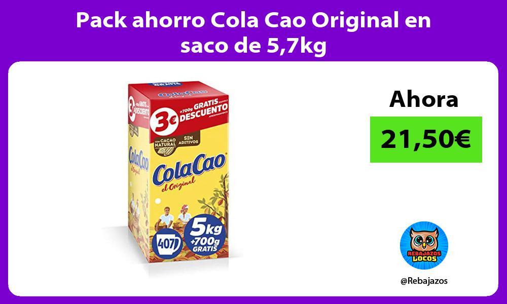 Pack ahorro Cola Cao Original en saco de 57kg