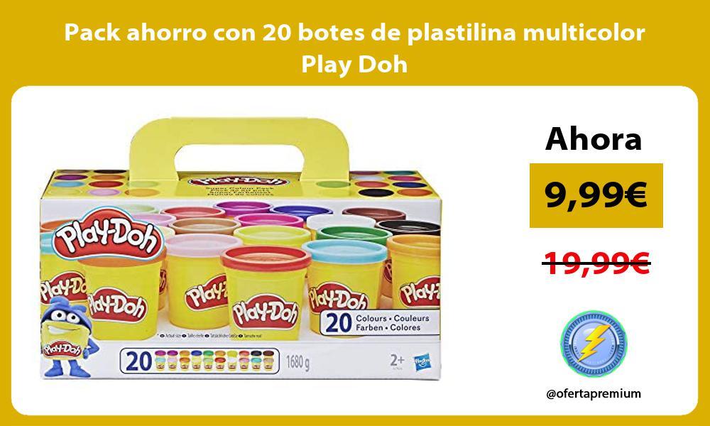Pack ahorro con 20 botes de plastilina multicolor Play Doh