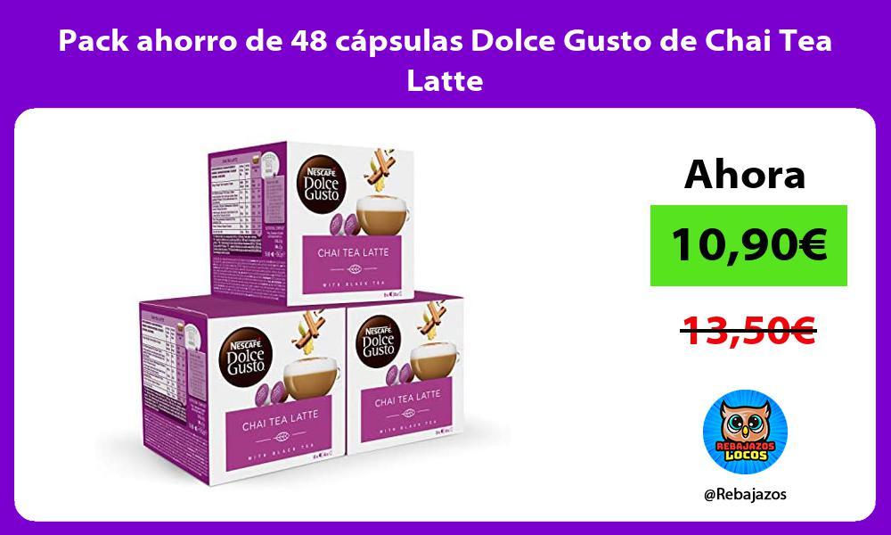Pack ahorro de 48 capsulas Dolce Gusto de Chai Tea Latte