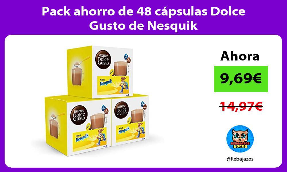 Pack ahorro de 48 capsulas Dolce Gusto de Nesquik