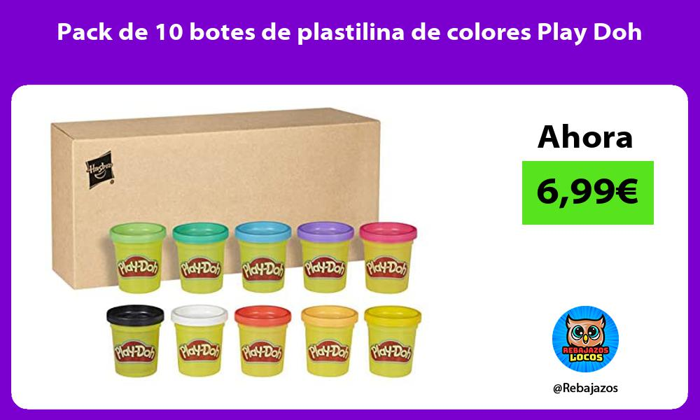 Pack de 10 botes de plastilina de colores Play Doh